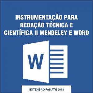 INSTRUMENTAÇÃO PARA REDAÇÃO TÉCNICA E CIENTÍFICA II MENDELEY E WORD