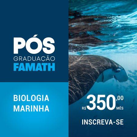 ESPECIALIZAÇÃO EM BIOLOGIA MARINHA E OCEANOGRAFIA