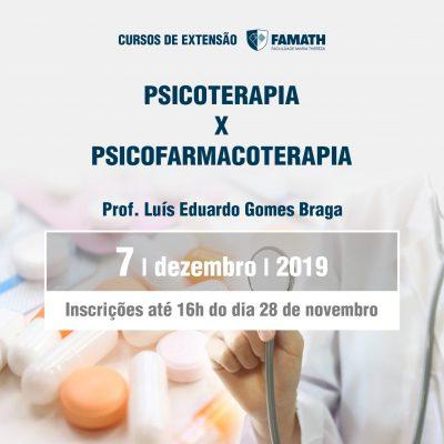 Psicoterapia x Psicofarmacoterapia
