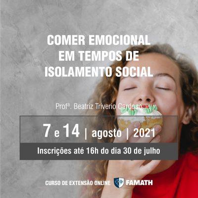 Comer emocional em tempos de isolamento social